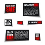 Black friday badge-01. Black Friday Sale badges and labels and discount banners. Ready for your design, website, advertising, banner. Vector EPS10 Stock Photo