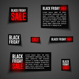 Black friday badge2-01 Royalty Free Stock Photography