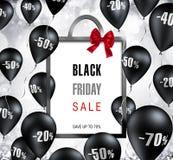 Black Friday - Bag Shape Stock Image