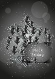 Black friday with balloons and confetti Royalty Free Stock Photo