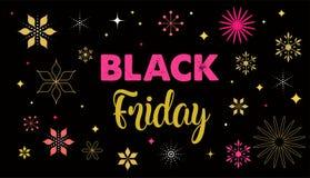 Black Friday, bandeira da venda do Natal, molde do cartaz ilustração royalty free