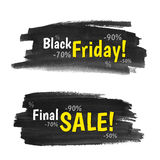 Black Friday baner Royaltyfria Bilder