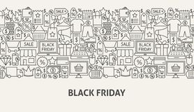 Black Friday banerbegrepp vektor illustrationer