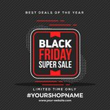Black Friday Banner Abstract Background. Simple royalty free illustration