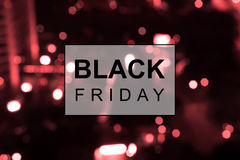 Black Friday banner. Against blured background Royalty Free Stock Photography