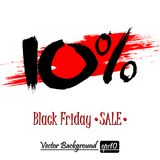 Black Friday Sale. Black Friday banner. Black Friday Sale 10 percent inscription template on an  background. Vector illustration Royalty Free Stock Photos