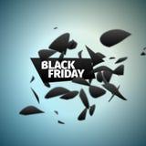 Black friday banner. Explosion sale. Motion blur. Vector element. Black friday banner. Explosion sign. Motion blur. Vector element Stock Image