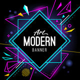 Black Friday Banner. Black Friday geometric banner design template. Material design style translucent banner with plastic elements. Vector illustration Royalty Free Stock Photos