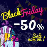 Black Friday. Banner with the sale Royalty Free Stock Image