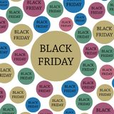 Black friday. Banner, template colorful background. Black Friday 2017, November 24th. Black friday. Banner, template colorful background Stock Image