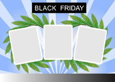 Black Friday Banner and Three Square Sticker on St Royalty Free Stock Photos