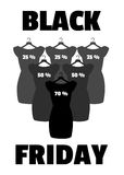 Black Friday banner vector. Little black dress. Stock Images