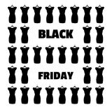 Black Friday banner vector. Little black dress. Royalty Free Stock Photography