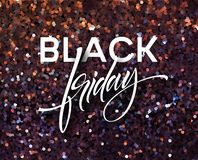 Black Friday banner vector template with glitter effect royalty free illustration