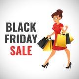 Black Friday-bannermalplaatje Royalty-vrije Stock Afbeeldingen