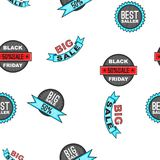 Black Friday banners pattern, cartoon style. Black Friday banners pattern. Cartoon illustration of Black Friday banners vector pattern for web vector illustration