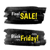 Black Friday Banners Stock Photos