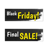 Black Friday Banners Stock Photo