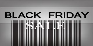 Black Friday Barcode for Special Price Products Stock Image