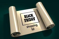 Black Friday-Beschriftung Lizenzfreies Stockfoto