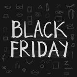 Black Friday-Beschriftung Lizenzfreie Stockfotografie