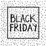 Black Friday-Beschriftung Lizenzfreie Stockbilder