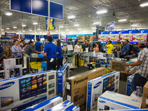 Black Friday in Best Buy. People shopping in a Best Buy store during Black Friday , Mcallen, Texas Stock Photo
