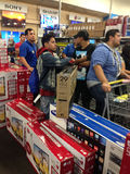 Black Friday in Best Buy. People shopping in a Best Buy store during Black Friday , Mcallen, Texas Stock Images