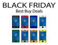 Black Friday Best Buy tratta la promozione di acquisto Fotografia Stock Libera da Diritti