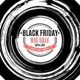 Black friday big sale advertisement, banner, emblem, vector illu Vector Illustration