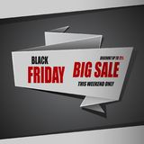 Black Friday big sale banner, discount up to 75%. Illustration oF Black Friday big sale banner, discount up to 75 Stock Illustration