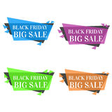 Black friday, big sale banners collection. Royalty Free Stock Photography