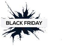 Black Friday, Big Sale, black ink splach. EPS10 Vector stock illustration