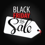 Black Friday Big Sale  concept. Inscription design black Friday banners Stock Images