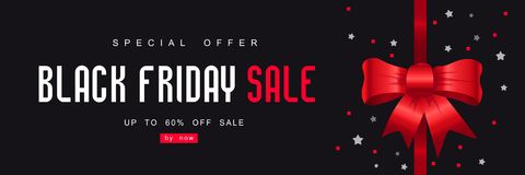 Black Friday, Big Sale, creative template on flat design. Black Friday Sale with Best Offers Discount, Flat 55 Off, Creative typographical background, Stylish Stock Photo