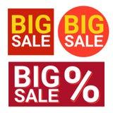 Black Friday Big Sale Icon Holiday Shopping Banner Stock Image
