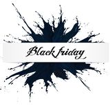Black Friday, Big Sale, black ink splach stock image