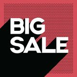 Black friday big sale poster banner template with long shadow retro typography text and polka dot background. Stock Photography