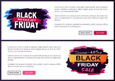 Black Friday Big Sale 2017 Promo Web Posters Info Stock Photography