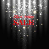 Black Friday. Big sale shining background. vector illustration Stock Image