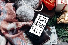 Black friday big sale. special christmas offer discount text on Royalty Free Stock Images