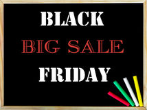 Black Friday Big Sale text on blackboard Royalty Free Stock Photo