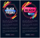 Black Friday Big Sale Web on Vector Illustration. Black Friday, big sale 2017 and discount -25 off, websites that are made up of labels, buttons and text sample Royalty Free Stock Photos