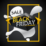 Black friday. Big sales. Trendy, modern poster to advertise your goods. Vector illustration Stock Photos
