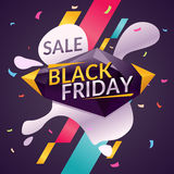 Black friday. Big sales. Trendy, modern poster to advertise your goods. Vector illustration Royalty Free Stock Photo