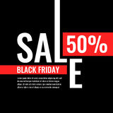Black friday. Big sales. Trendy, modern poster to advertise your goods. Vector illustration Royalty Free Stock Image