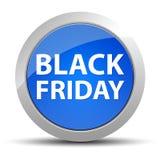 Black Friday blå rund knapp vektor illustrationer