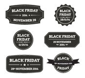 Black friday black labels Stock Images