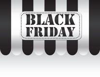 Black friday on black and white awning Stock Photo