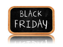 Black friday on blackboard banner Stock Photography